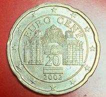 AUSTRIA - 2002 - Moneta - Palazzo Del Belvedere - Euro - 0.20 - Austria