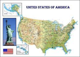 United States Map New Postcard - Estados Unidos