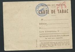 Carte De Tabac Pour 1947 , Non Utilsée , Cachet Mairie De Ligueil , Indre Et Loire , Dpt 37   Lx2805 - Historical Documents