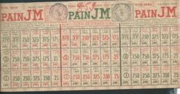 Titre Pour Pain JM , Janvier , Fevrier , Mars 1949 , Rationnement , Cachet Mairie De Ligueil ,dpt  37  Lx2808 - Historical Documents