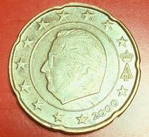 BELGIO - 2000 - Moneta - Re Alberto II - Euro - 0.20 - Belgio
