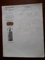 Ancien Courrier. Eau De Zenobie . A. Seguin . Bordeaux . 1883 - France