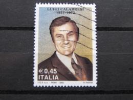 *ITALIA* USATI 2005 - LUIGI CALABRESI - SASSONE 2800 - LUSSO/FIOR DI STAMPA - 6. 1946-.. Repubblica