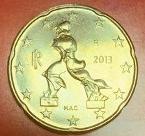 ITALIA - 2013 - Moneta - Scultura Di Umberto Boccioni, Futurista - Euro - 0.20 - Italy