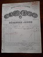 Ancienne Facture. Berenger Jeune. Grasse. Matieres Premieres Pour Parfumeries 1886 - France