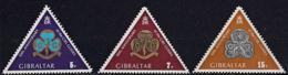 A1286 GIBRALTAR 1975, SG 346-8 50th Anniv. Gibraltar Girl Guides, MNH - Gibilterra