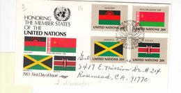 NATIONS-UNIES   NEW YORK   1983 FDC CIRCULEE  BONNE COTE - New-York - Siège De L'ONU