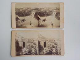 Début 1900 Lot 2 Photos Animées Stéréoscopiques Luxembourg 960 Luxemburg Mit Viadukt Attelage 851 Panorama - Photos Stéréoscopiques