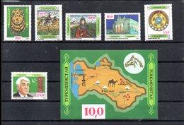 TURKMENISTAN 1/6 + BLOC 1** SUR LES ASPECTS DE LA CULTURE TURKMENE - Turkménistan
