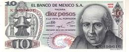 Mexico P.63 10 Pesos  1975 Unc - Mexique