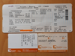 RENFE ESPAÑA. 3 TICKET AVE + REGIONAL. - Europa