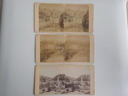 Début 1900 Lot 3 Photos Stéréoscopiques Luxembourg 970 Grund Château 959 Grund 1090 - Stereoscoop