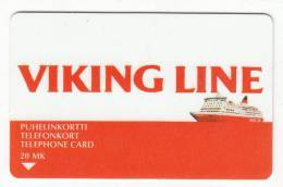 FINLAND - Viking Line, M/s ROSELLA, Turun Puhelin Telecard, CN : 6020, Tirage 2500, Exp.date 12/97, Used - Finlande