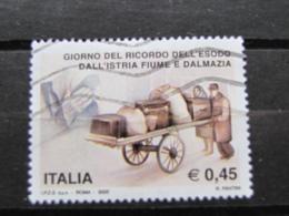*ITALIA* USATI 2005 - ESODO ISTRIA FIUME DALMAZIA - SASSONE 2801 - LUSSO/FIOR DI STAMPA - 6. 1946-.. Repubblica