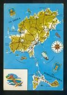 *Mapa De Ibiza Y Formentera* Ed. Excl. Casa Figueretas Nº 1433. Circulada. - Ibiza