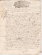 Calvados  - Balleroy - Ensemble De 30  Documents Fin 17ième  Début 18ieme - 15 Scans - Seals Of Generality