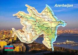 Azerbaijan Country Map New Postcard Aserbaidschan Landkarte AK - Azerbaïjan