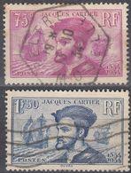 FRANCE Francia Frankreich - 1934 Yvert 296/297 -  Série Complète Oblitérée Jacques Cartier - Frankreich