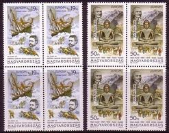 UNGARN MI-NR. 4287-4288 ** 4er BLOCK EUROPA 1994 ENTDECKUNGEN SCHIFF JULIUS PAYER - Europa-CEPT