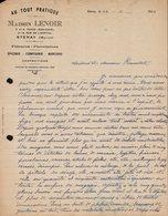 FACTURE - CORRESPONDANCE - MAISON LENOIR - AU TOUT PRATIQUE - STENAY - MEUSE - 22 NOVEMBRE 1940 - 1900 – 1949