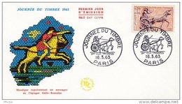 L4T005 France 1963 FDC Poste Gallo Romaine  0,20+0,05F Paris 16 03 1963 /env. Illus. - Journée Du Timbre