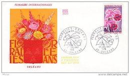 L4T030 FRANCE 1967 FDC Floralies Orléans 29 07 1967/env. Illus. - FDC