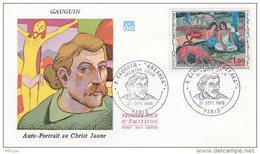 L4T045 FRANCE 1968 FDC Gauguin Arearea 1,00F Paris 21 09 1968/env. Illus. - 1960-1969