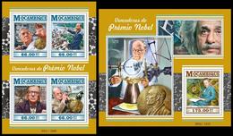 Mozambique 2015 Nobel Prize Laureates Klb + S/s MNH - Prix Nobel
