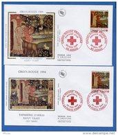 L4T231 FRANCE 1994 2 FDC Croix Rouge Tapisserie D'Arras 2,80+0,60f  Montréal Arras  26 11 1994/ 2 Env. Illus. - Croix-Rouge