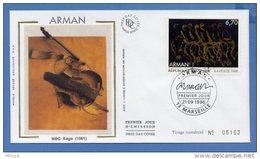 L4T303 FRANCE 1996 FDC Arman 6,70f Marseille 21 09 1996 /env. Illus. - FDC