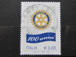 *ITALIA* USATI 2005 - CENTENARIO ROTARY INTERNATIONAL - SASSONE 2802 - LUSSO/FIOR DI STAMPA - 6. 1946-.. Repubblica