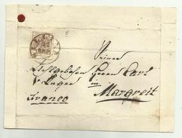 FRANCOBOLLO DA 6 KREUZER SILICA 1856 SU FRONTESPIZIO - Oblitérés
