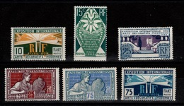 Arts Décoratifs 1927 YV 210 à 215 N** Tres Frais Et Décemment Centrés Cote 60 Eur + 50% - France