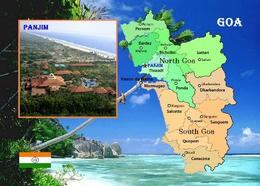 India Goa State Map New Postcard Indien Landkarte AK - Inde