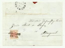 FRANCOBOLLO DA 3  KREUZER BOTZEN  1855 SU FRONTESPIZIO - Gebraucht