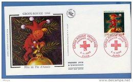 L4T639 FRANCE 1998 FDC Croix Rouge Fête De Fin D'année 3,00+0,60f Paris 05 11 1998 /env. Ill. - Croix-Rouge