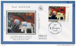 L4T679 FRANCE 1998 FDC Paul Gauguin 6,70F Pont Aven 05 12 05 1998 /env. Illus. - Moderne
