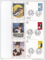 L4T719 FRANCE 1996 FDC Heros Français Du Roman Policier 3,00+0,60f  St Nazaire 05 10 1996 / 6 Env. Illus. - FDC