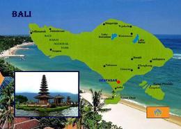 Indonesia Bali Island Map New Postcard - Indonésie