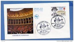 L4T758 SAINT PIERRE MIQUELON 1998 FDC Alain Savary 3,00f  Saint-Pierre 07 01 1998/envel.  Illus. - FDC