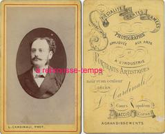 Vers 1885-CDV AJaccio- Corse-portrait D'homme Par L. Cardinali - Photos