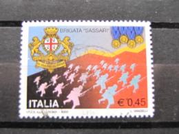 *ITALIA* USATI 2005 - BRIGATA SASSARI - SASSONE 2803 - LUSSO/FIOR DI STAMPA - 6. 1946-.. Repubblica