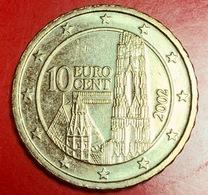 AUSTRIA - 2002 - Moneta - Cattedrale Di Santo Stefano - Euro - 0.10 - Austria