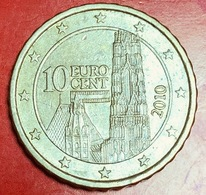AUSTRIA - 2010 - Moneta - Cattedrale Di Santo Stefano - Euro - 0.10 - Austria