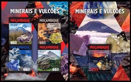 Mozambique 2016 Minerals Klb + S/s MNH - Mineralen