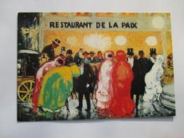 Kees Van Dongen  Le Restaurant De La Paix  Collection Particulière Paris Calèche Chapeau Haute Forme - Peintures & Tableaux