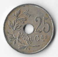 Belgium 1922 25 Centimes (French) [C261/1D] - 05. 25 Centimes