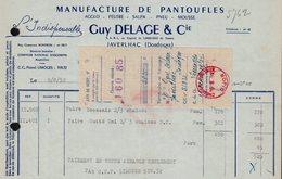 FACTURE GUY DELAGE ET CIE - JAVERLHAC - DORGOGNE - 09 AOUT 1952 - 1950 - ...