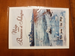 """COLLECTOR """"NEIGE ENTRE BEAUCE ET SOLOGNE"""" 10 TIMBRES ADHESIFS A PRIX COUTANT - Unclassified"""