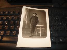 CARTE PHOTO CHASSEUR ALPIN  FRANCAIS PRISONNIER DE GUERRE 1914 1918 - Weltkrieg 1914-18